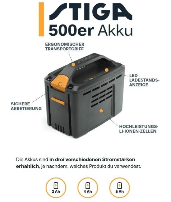 STIGA Akku SBT 520 AE - 2,0 Ah / 48 Volt