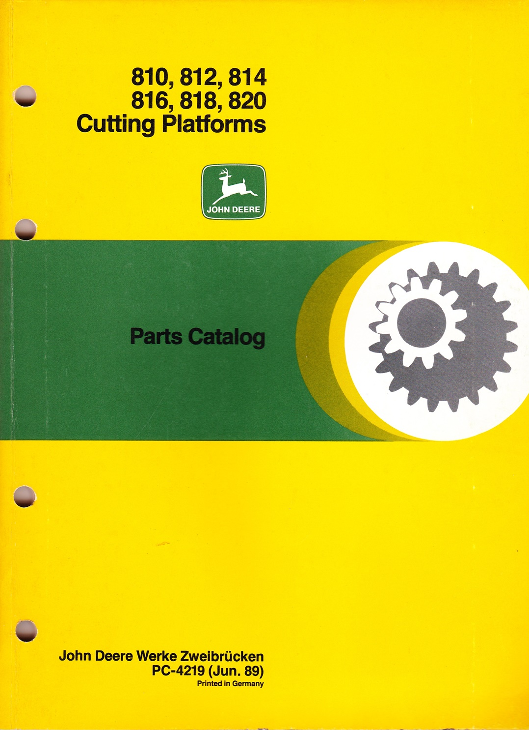 Ersatzteilkatalog John Deere, Cutting Platforms 810, 812, 814, 816, 818, 820
