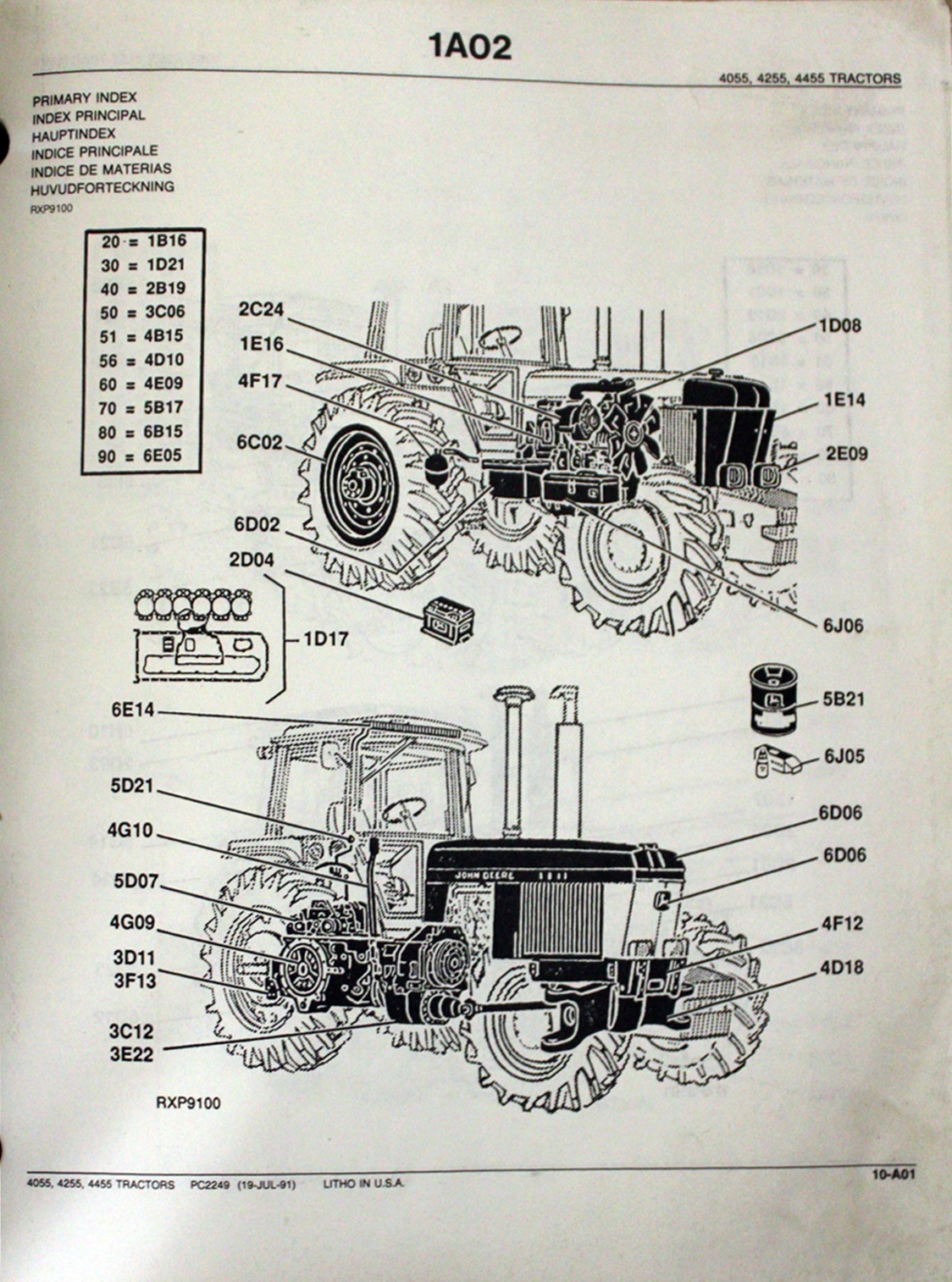 Ersatzteilekatalog John Deere Traktoren 4055, 4255 und 4455