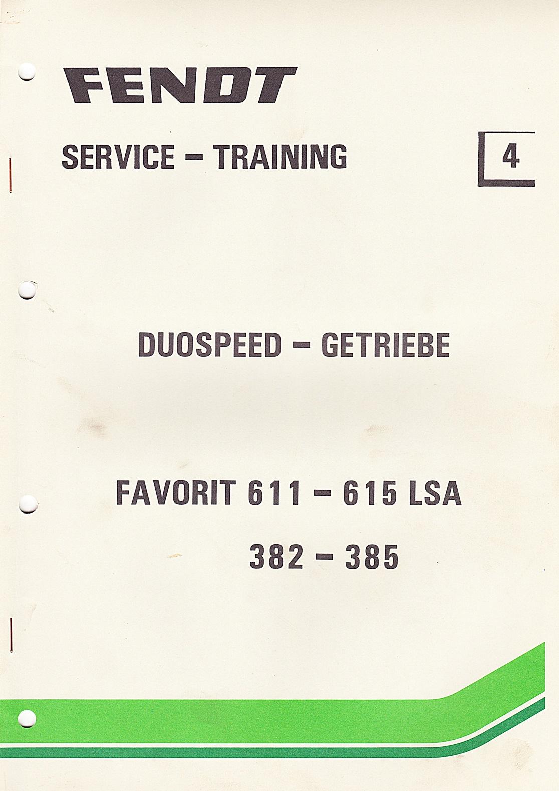 Fendt Service - Training Nr. 4 Duospeed - Getriebe