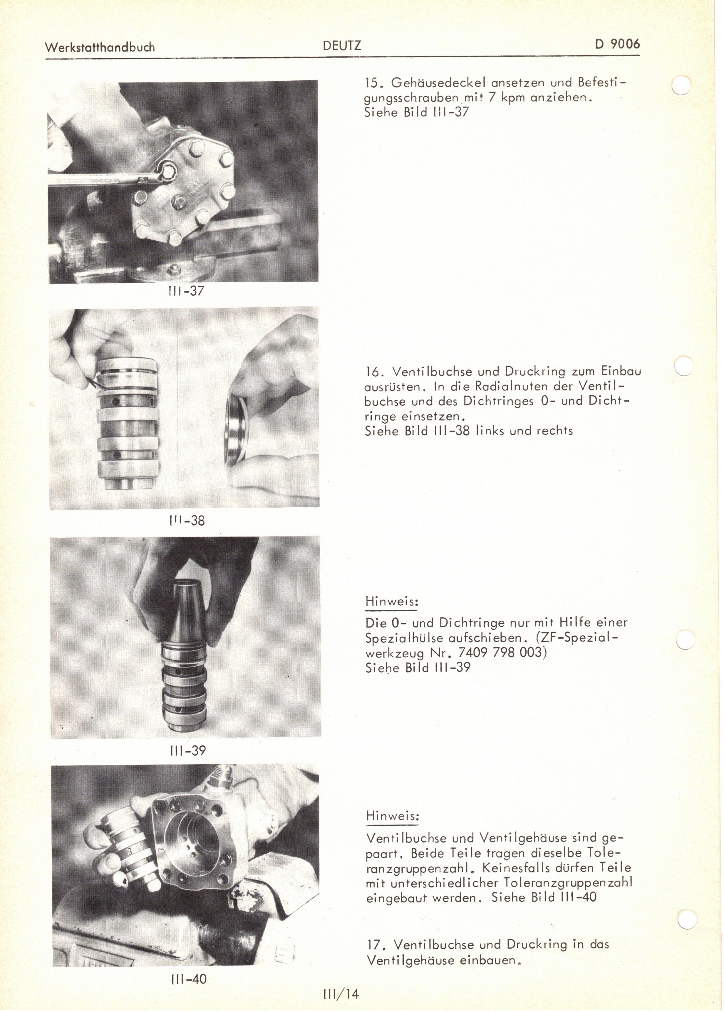 Deutz D 9006 Werkstatthandbuch im Ringbuchordner