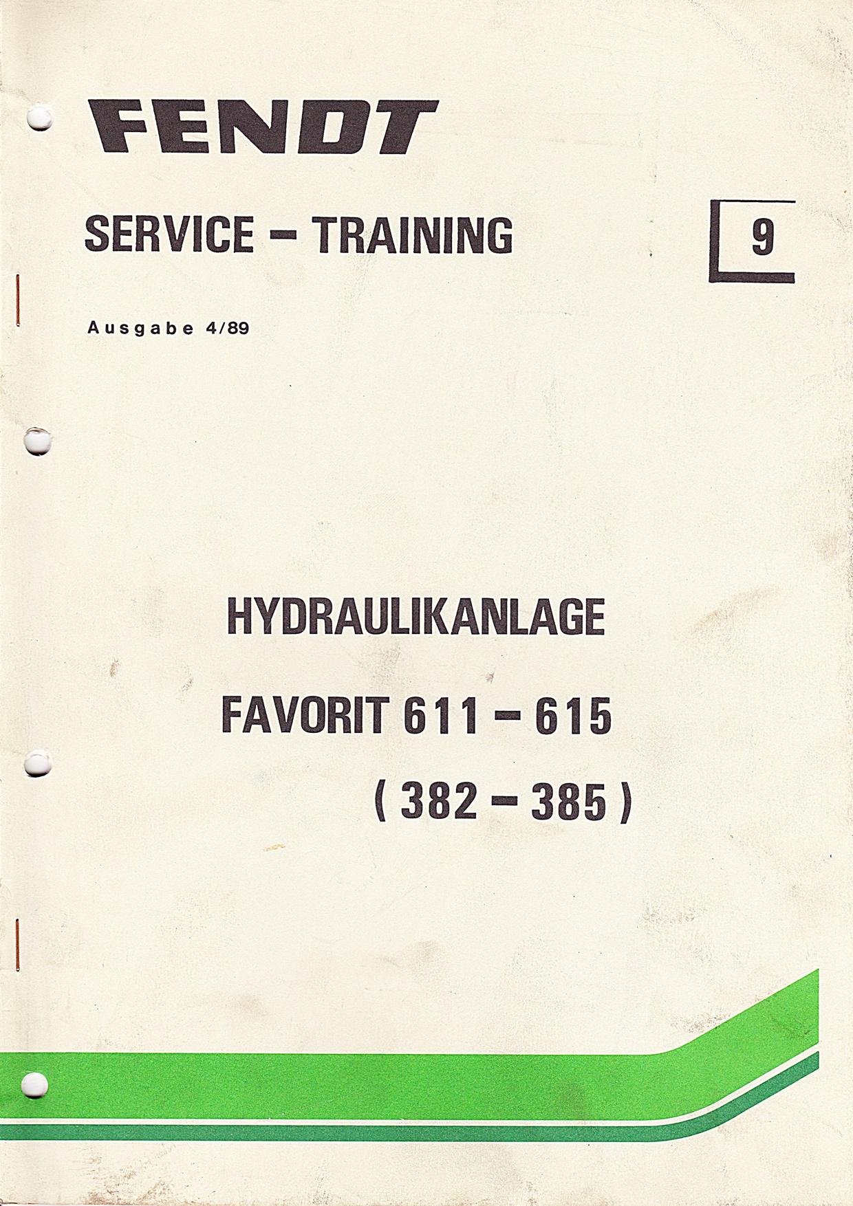 Fendt  Service und Training Nr. 9, Hydraulikanlage