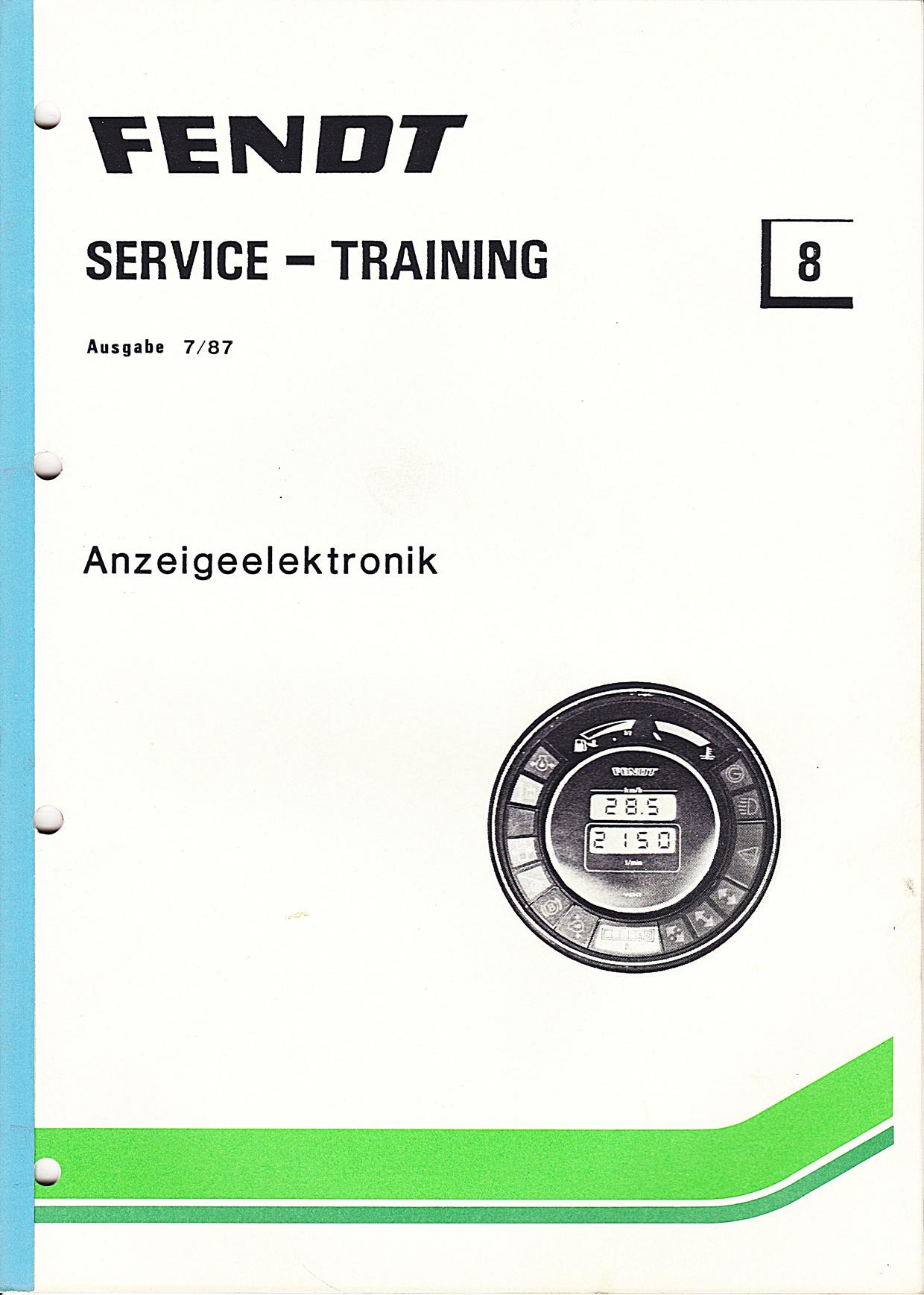 Fendt Service - Training Nr.8, Anzeigeelektronik