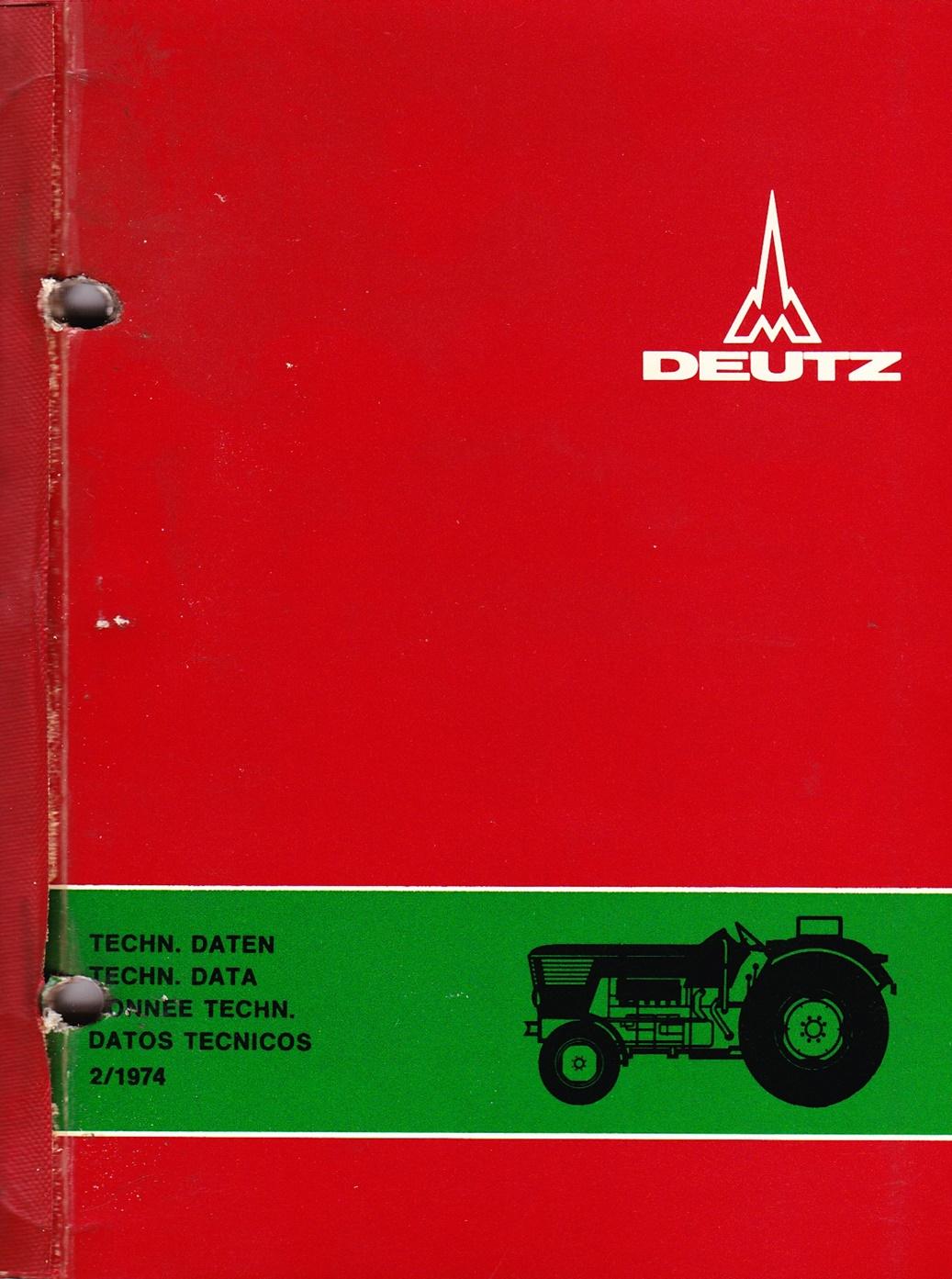 DEUTZ Reperaturanleitungen Radschlepper D 80 06 / D 100 06 / D 130 06 und Traktoren D 40 06 - D 130 06