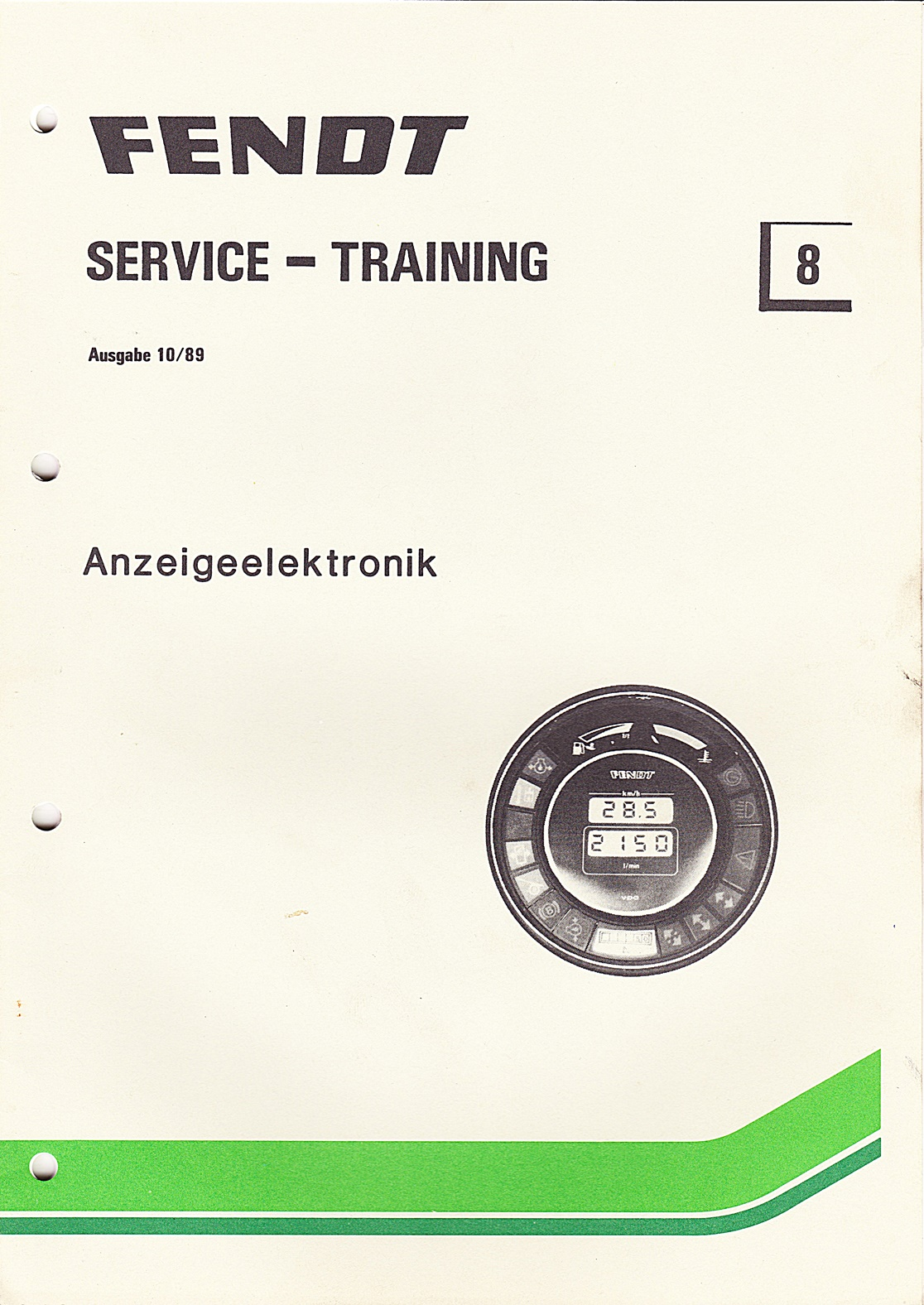Fendt Service - Training Nr.8  Anzeigeelektronik